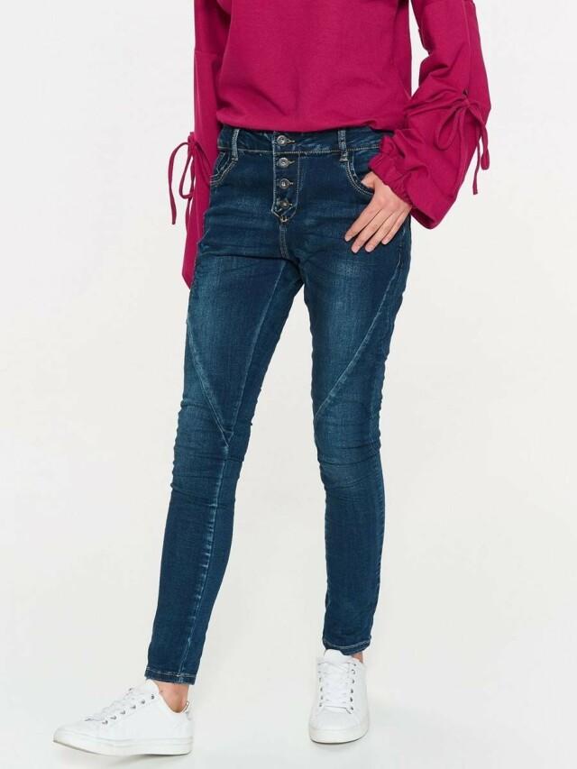 Top Secret Jeansy dámské tmavě modré s vyšíváním na knoflíky - XS