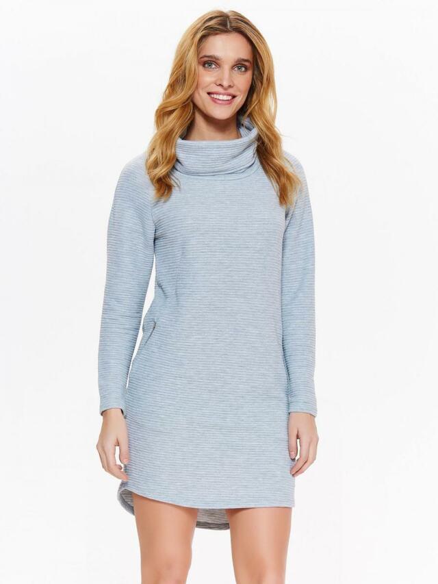 d0a49381e394 Top Secret šaty dámské šedé s rolákem a dlouhým rukávem - 42