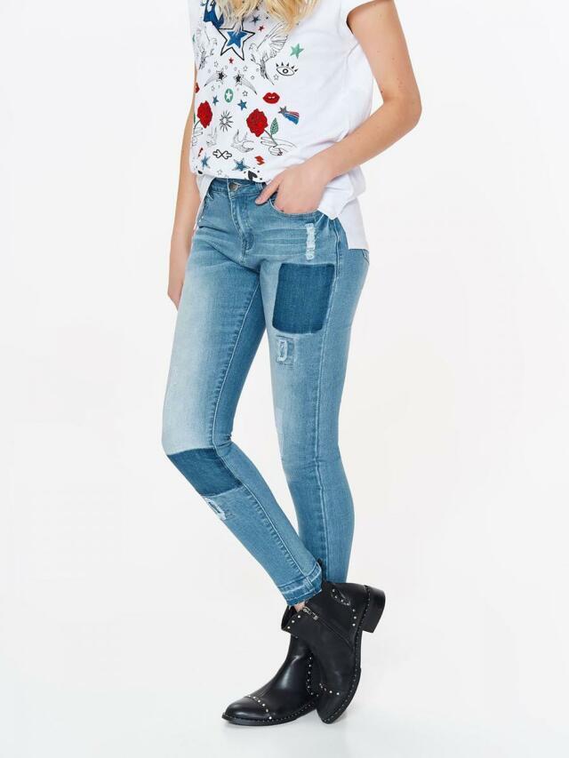 Top Secret Jeansy dámské záplatované