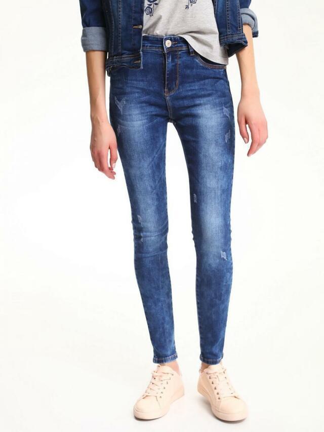Top Secret Jeansy dámské modré skinny - 34