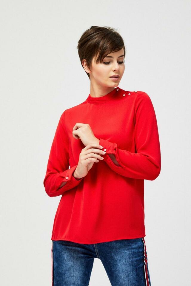 Moodo Košile dámská s dlouhým rukávem - XS