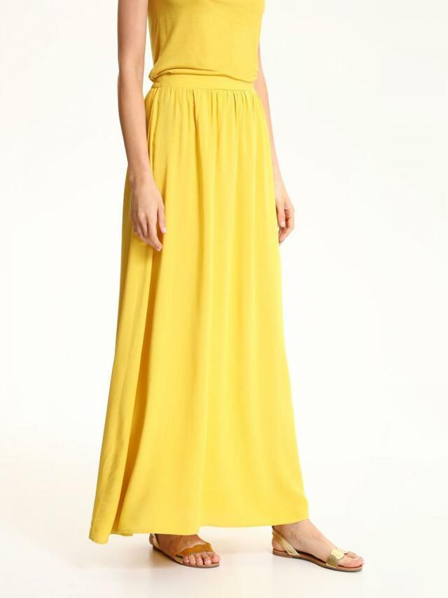 Top Secret Sukně dámská dlouhá žlutá - 42 211b8ba56a