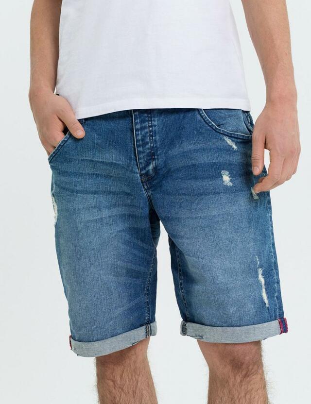 Diverse Kraťasy pánské jeans STANFORD SH XXV BLUE