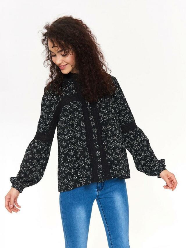 Top Secret Halenka dámská černá s dlouhým rukávem