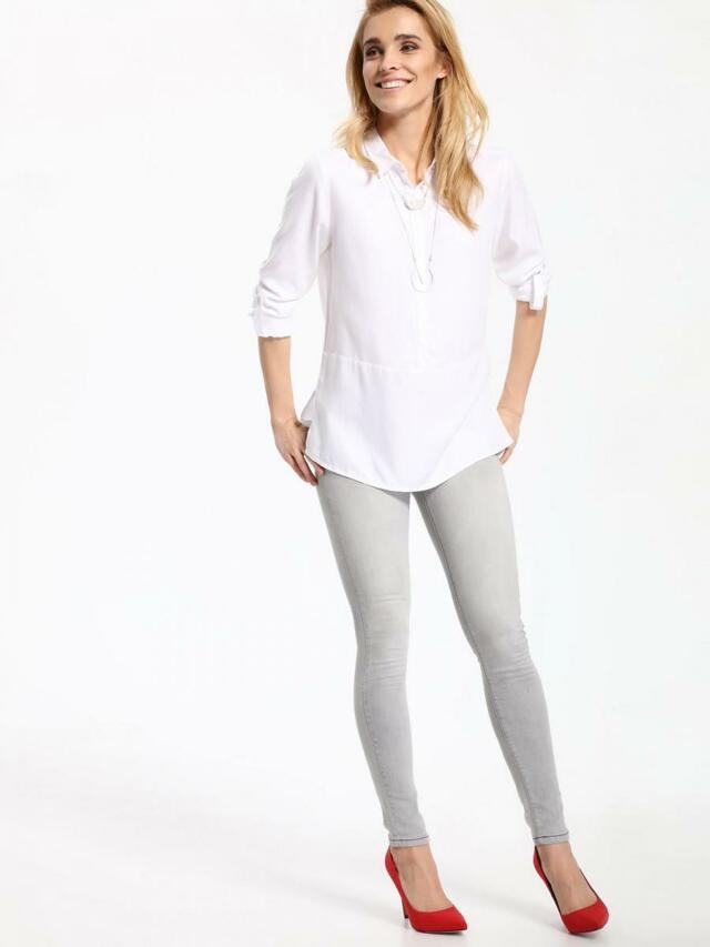 Top Secret Jeansy dámské šedé skinny - 38 21f8a98451