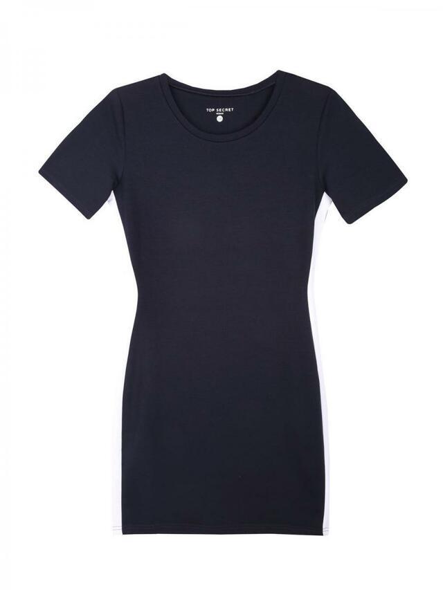971d23a570f7 Top Secret šaty dámské tmavě modré s bočním pruhem a krátkým  rukávem(787063) -