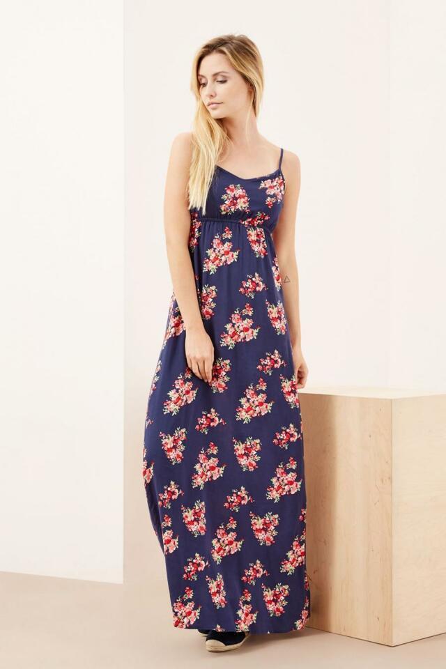 Moodo šaty dámské dlouhé květované bez rukávu