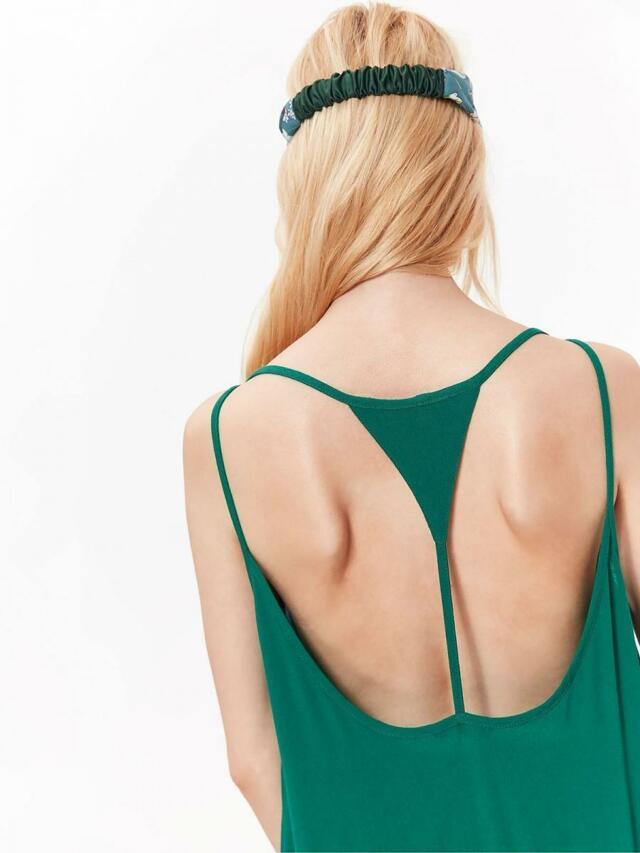 Top Secret šaty dámské zelené s odhalenými zády - 42