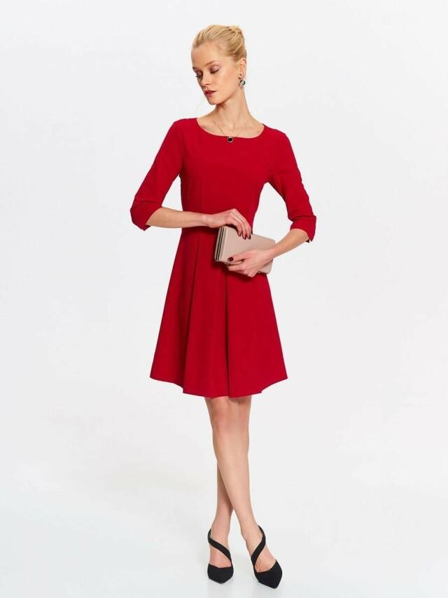 Top Secret šaty dámské červené se skládanou sukní a 3 4 rukávem - 42 ddbbc0cbce
