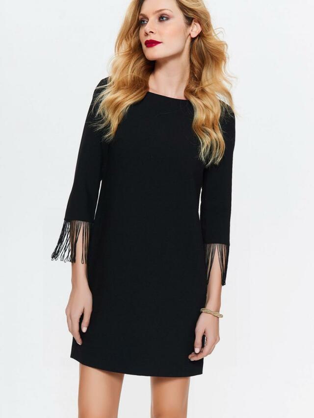 bd42d3fdf00 Top Secret šaty dámské černé s 3 4 rukávem - 38