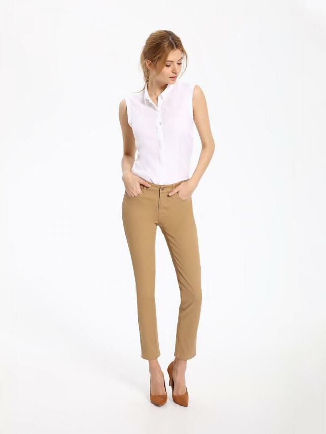 Top Secret Košile dámská bílá bez rukávu