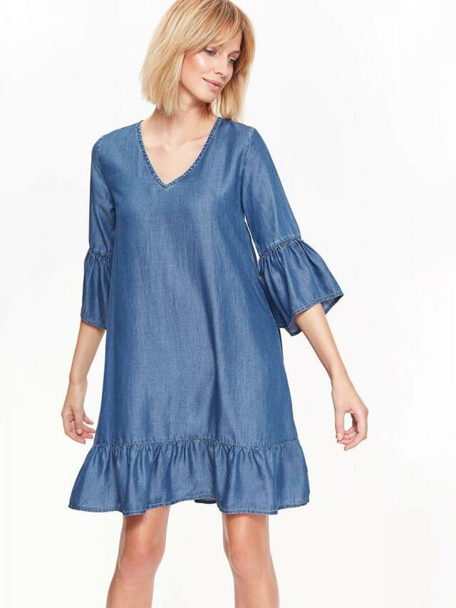 f30437f9009d Top Secret šaty dámské jeans s 3 4 rukávem - 36