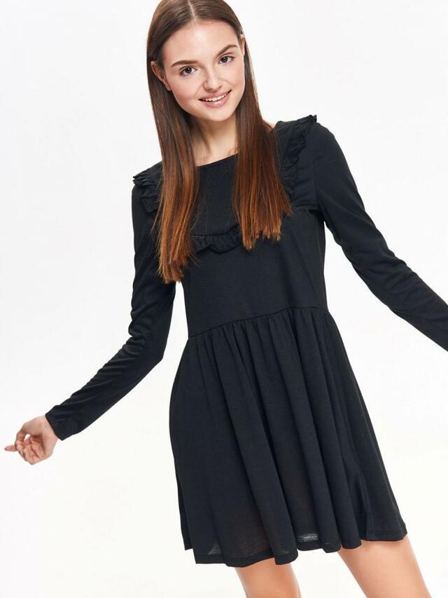 Top Secret Šaty dámské černé s dlouhým rukávem - M f5866ae4fd