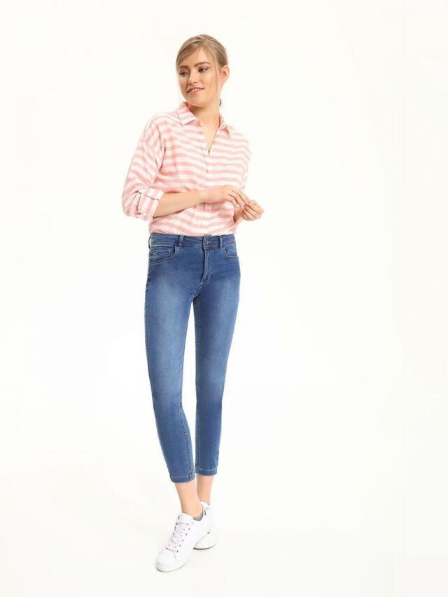 Top Secret Košile dámská růžová s proužky dlouhý rukáv - M