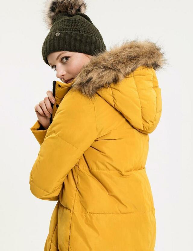 Diverse Bunda dámská LEVIOSA s kožíškovou kapucí
