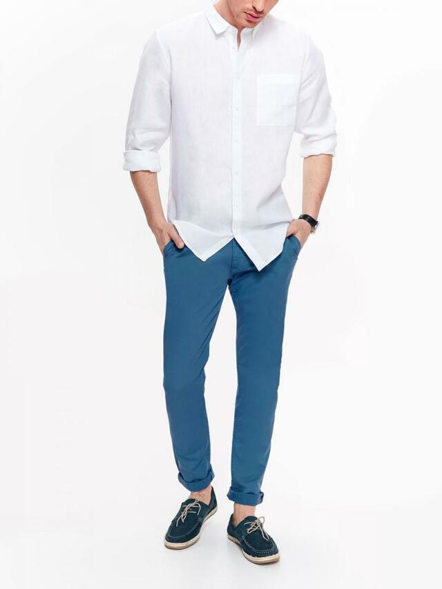 7e898f01d Top Secret Košile pánská bílá lněná s dlouhým rukávem(595871) - 3