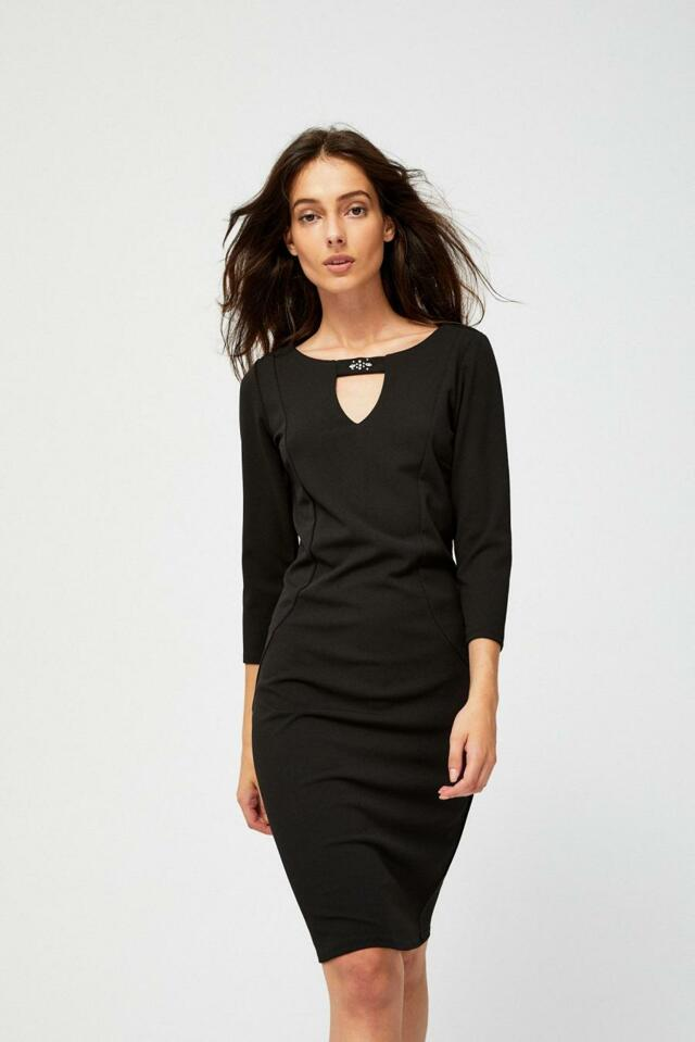 de71579b8605 Moodo šaty dámské černé s 3 4 rukávem - S