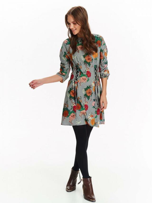 Top Secret šaty dámské květované se šněrováním - 34