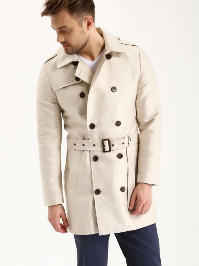 Top Secret Kabát pánský trenčkot na knoflíky
