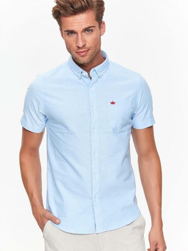 Top Secret Košile pánská bledě modrá s krátkým rukávem