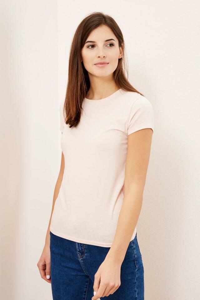 Moodo Triko dámské jednobarevné krátký rukáv