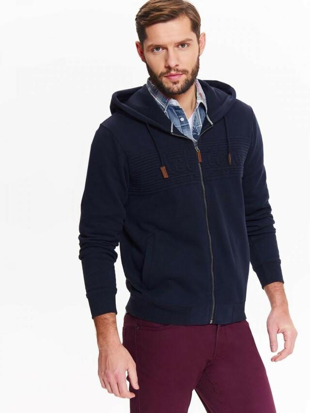 Top Secret Mikina pánská tmavě modrá s kapucí na zip
