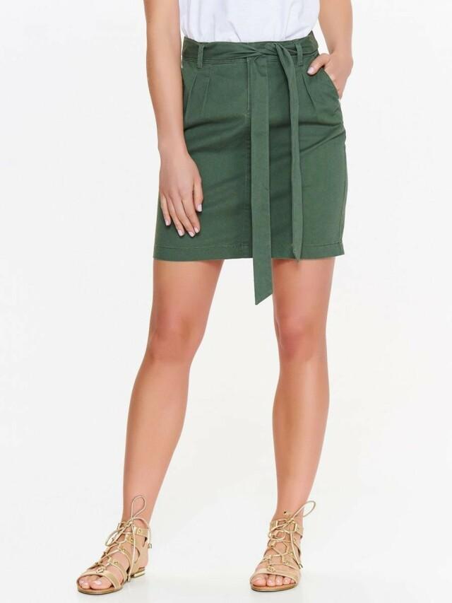 Top Secret Sukně dámská zelená se zavazovacím páskem