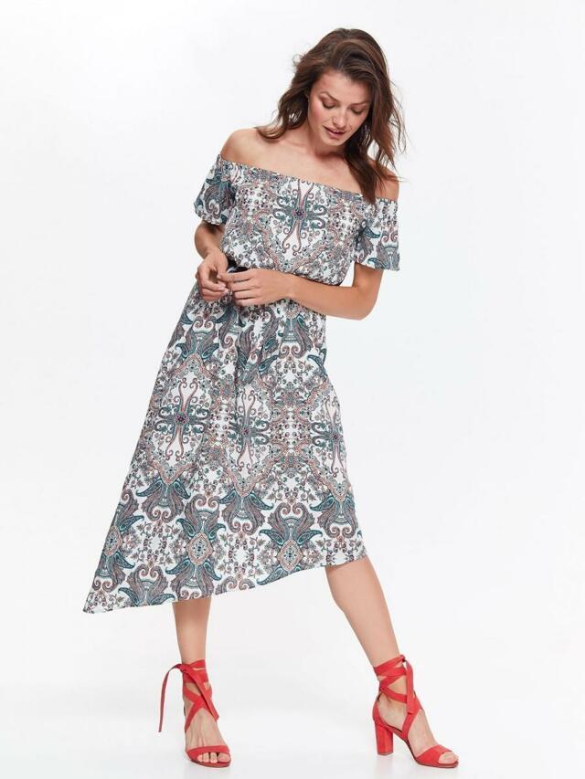 Top Secret šaty dámské dlouhé vzorované s odhalenými rameny - 36 e871af0c7cc