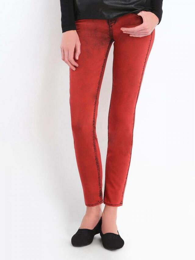 Top Secret Kalhoty dámské červené - 34