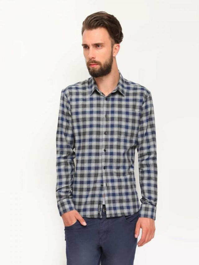 Top Secret Košile pánská dlouhý rukáv kostkovaná