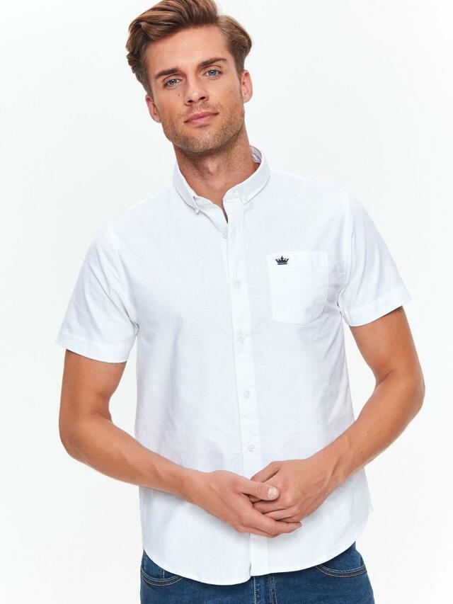 Top Secret Košile pánská bílá s krátkým rukávem