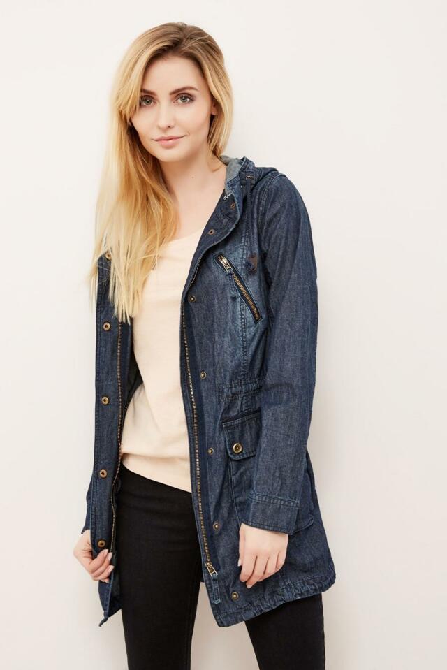 Moodo Bunda dámská jeans - XL