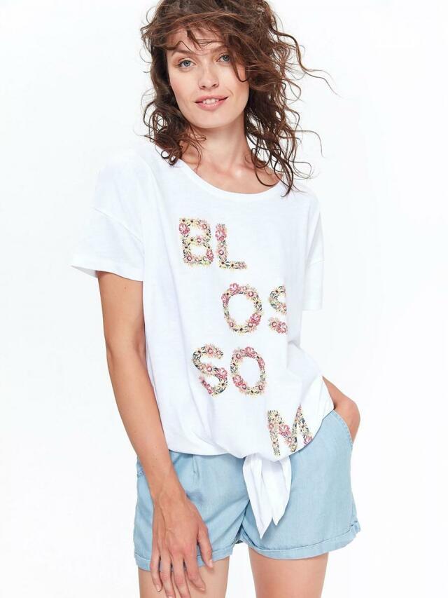 Top Secret Halenka dámská BLOSSOM s krátkým rukávem a zavazováním
