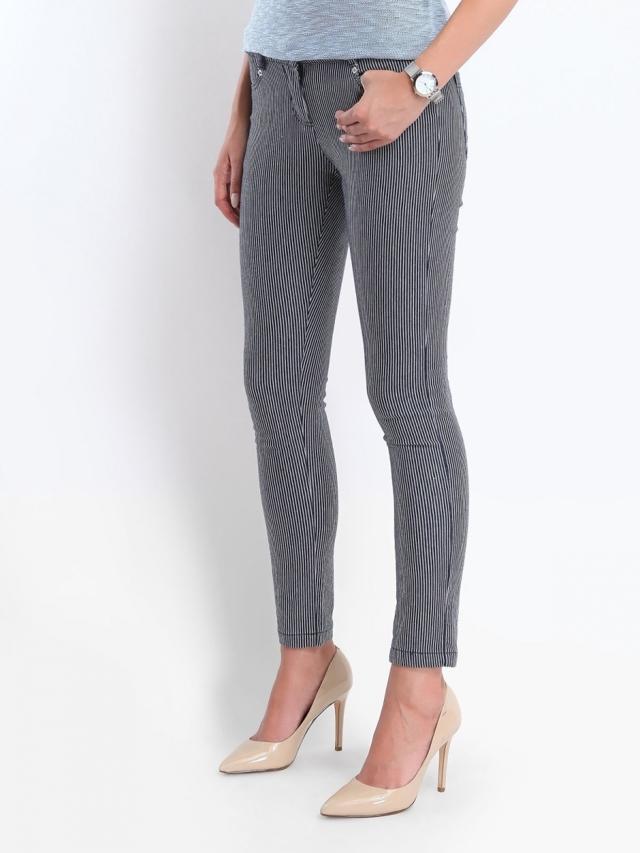 Top Secret Kalhoty dámské proužkaté