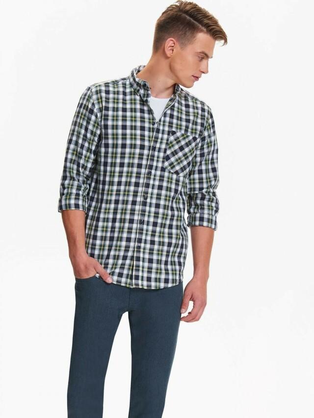 Top Secret Košile pánská kostkovaná s dlouhým rukávem