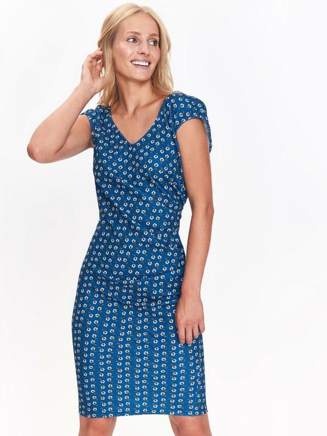 Top Secret šaty dámské tmavě modré s jemným vzorem a bez rukávu - 38 fa87396e0c