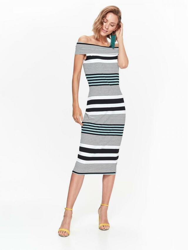 Top Secret šaty dámské pruhované s odhalenými rameny - 40