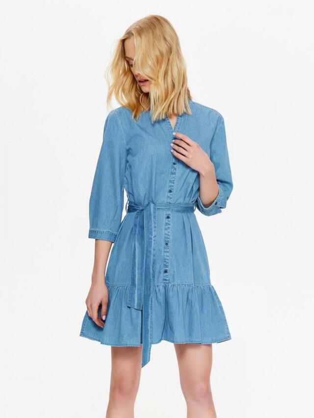 0fb38335b095 Top Secret šaty dámské jeans s volánkem a dlouhým rukávem(565377) - 2
