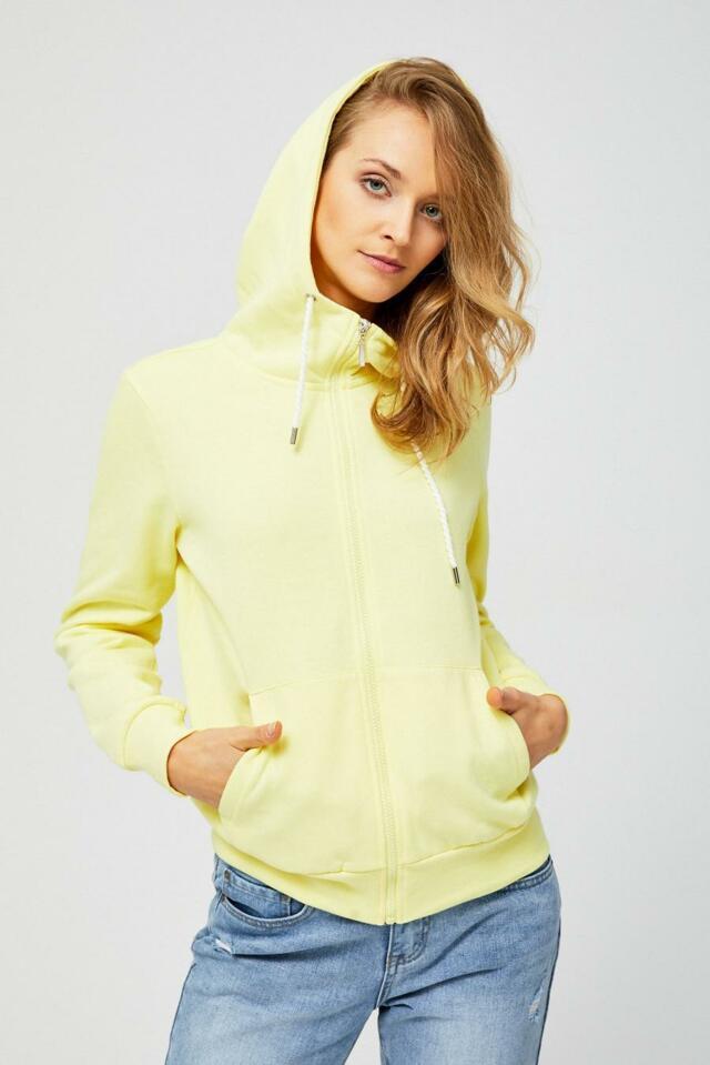 Moodo Mikina dámská na zip s kapucí - S