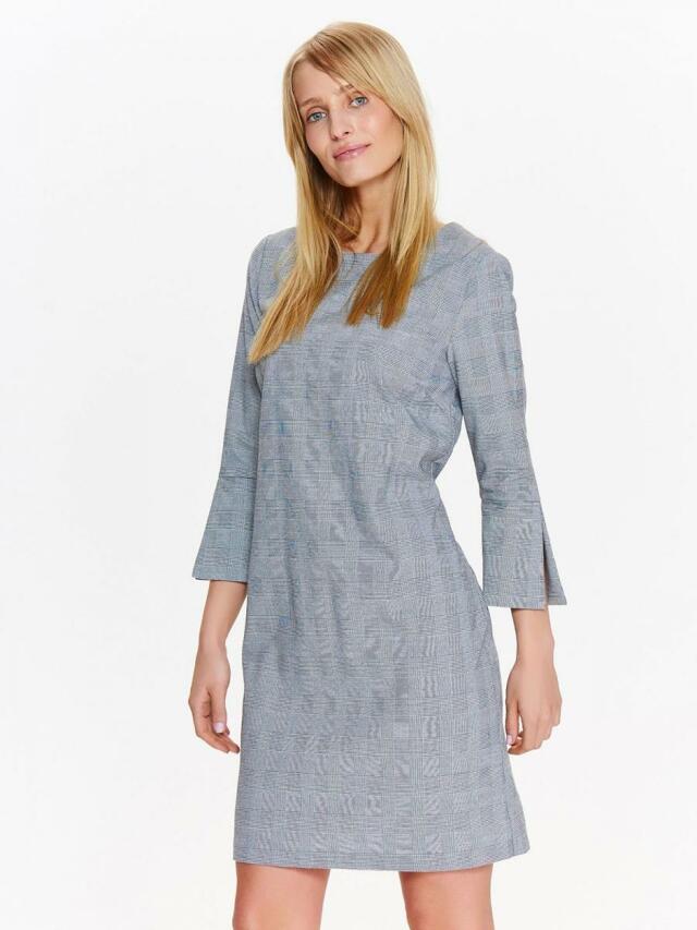 Top Secret šaty dámské šedé s 3/4 rukávem - 36