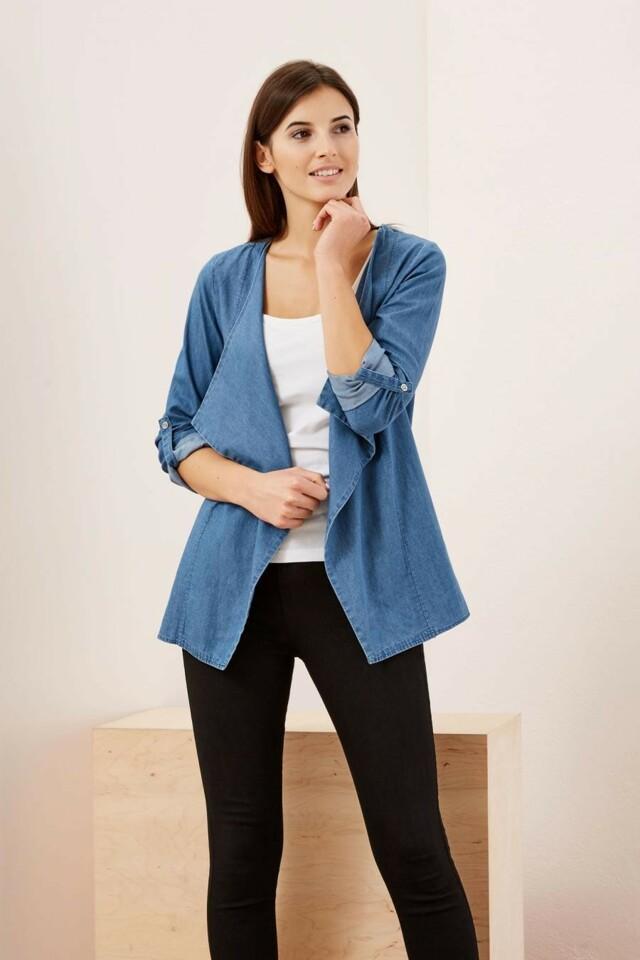 3cfc49d874b Moodo Sako dámské jeans delší střih - L