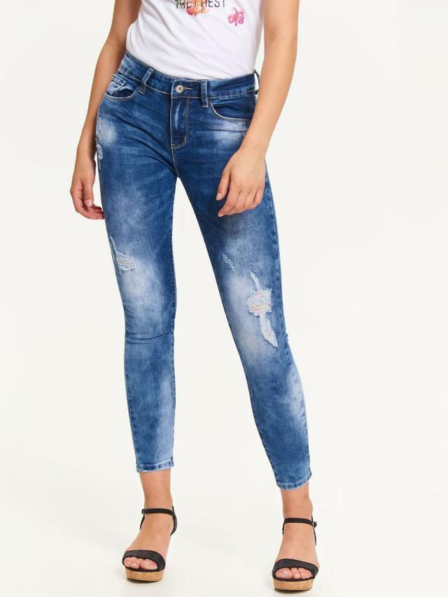 Top Secret Jeansy dámské sepraný a potrhaný vzhled - L 4f1761af91