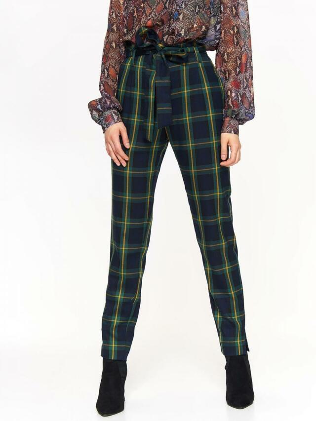 Top Secret Kalhoty dámské kostkované s páskem - 34