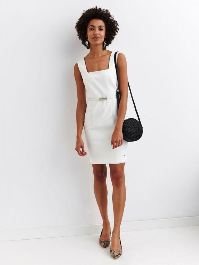 Top Secret Šaty dámské bílé bez rukávu - 46