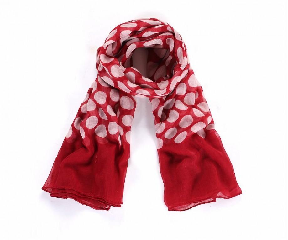 aa0cdf69822 Luxusní šátek Dot Red +