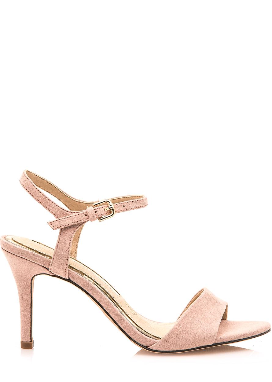 Béžové sandály na jehlovém podpatku Maria Mare + 776c134337