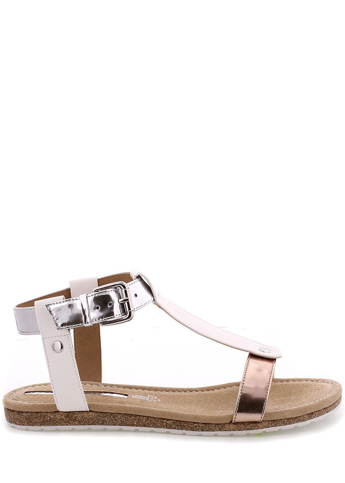 5be75d61e950 ➤ Bílé korkové letní sandálky MARIA MARE - Levná i značková obuv