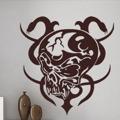 Samolepka na zeď Lebka s hady 001 (146329) - 1