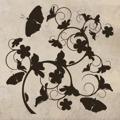 Samolepka na zeď Květiny s motýly 020 (146303) - 1
