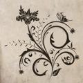 Samolepka na zeď Květiny s motýly 014 (146297) - 1